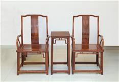 刺猬紫檀 太师椅 3件套