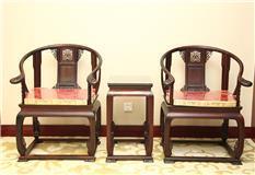大红酸枝皇宫椅3件套