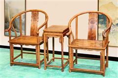 刺猬紫檀 圈椅三件套