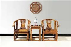 非洲檀香  皇宫椅3件套