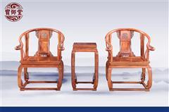 白酸枝 皇宫椅三件套