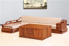 刺猬紫檀  新中式贵妃沙发(包软体)3件套