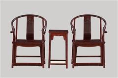 小叶紫檀  圈椅3件套