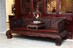 鸿庭轩红木:红酸枝  罗汉床2件套