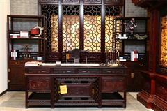 鸿庭轩红木:红酸枝  办公台2件套