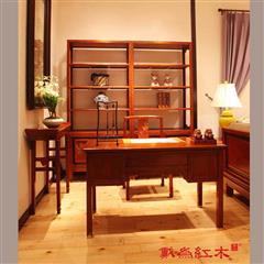 TW玉堂富贵写字台、书柜