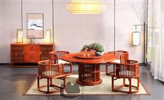 明轩餐柜-明轩153圆台-国寿椅