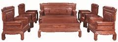 刺猬紫檀兰亭序沙发