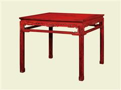 西番莲罗锅枨方桌