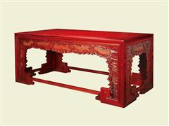 云蝠纹四面平条桌