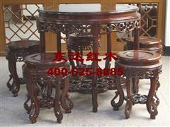 1838型洋花圆椅6件套