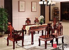 国方家居大红酸枝餐桌