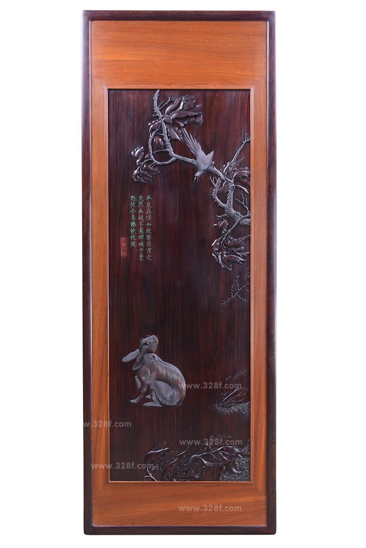 【宜雅-泰和园】玉兔向秋挂屏