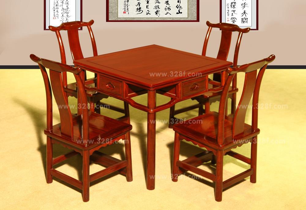 红檀  小方桌五件套