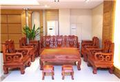 缅甸花梨古韵沙发10件套