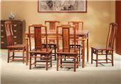 刺猬紫檀  眀式餐台7件套
