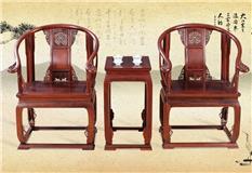 黑酸枝/非洲红酸枝 洋花皇宫椅3件套