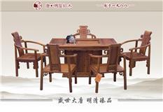 刺猬紫檀 福盛茶台 6件套