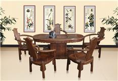 刺猬紫檀 腰型茶台6件套