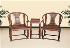 刺猬紫檀 皇宫椅 3件套