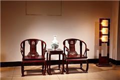 大红酸枝 皇宫椅 3件套