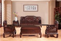 黑紫檀 荣华富贵(国色天香)沙发10件套