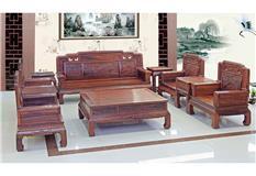 黑酸枝/非洲酸枝/大果紫檀  新款花开富贵沙发10件套