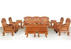 刺猬紫檀 麒麟宝座沙发 13件套