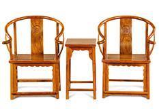 刺猬紫檀 明韵圈椅