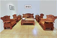 香花梨 祥和沙发1+2+3   6件套