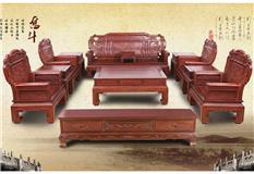 非洲红酸枝  五福沙发11件套