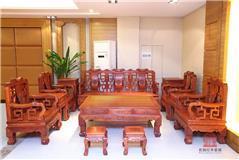 缅甸花梨  古韵沙发12件套