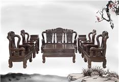 黑紫檀   长城沙发10件套