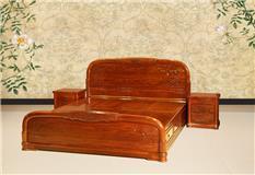 红高棉 2米花开富贵大床三件套