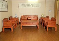 缅甸花梨罗汉床沙发11件套
