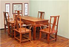 缅甸花梨   明式茶台7件套