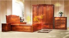缅花 豪华大象高箱1.8米大床+衣柜