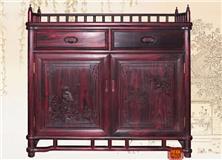 高档明式红木家具大叶紫檀明艺餐边柜