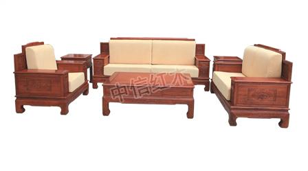 软体万字沙发(中信红木)