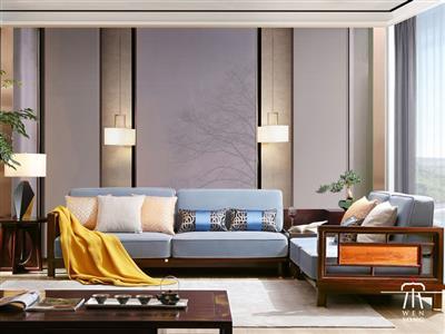 文宋红木当代中式黑酸枝博文转角沙发