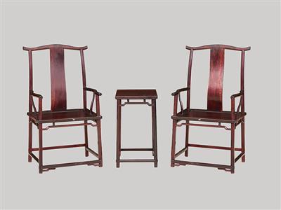 波記家具:印度小葉紫檀八角官帽椅3件套