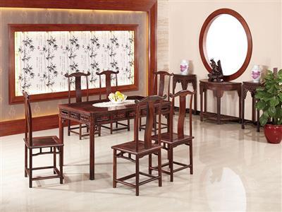 名典红木大红酸枝餐桌