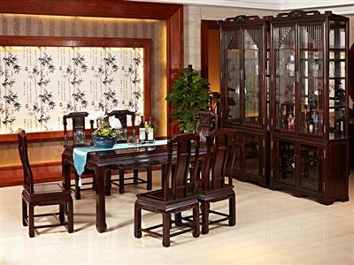 名典红木黑酸枝餐桌