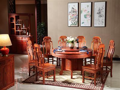 国方家居缅甸花梨圆桌