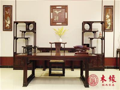 木缘红木 阔叶黄檀 红木书桌