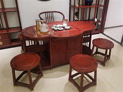 圆融圆茶台配1和+4凳