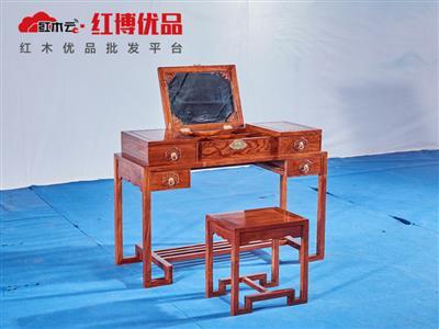 中式翻盖梳妆台 2件套