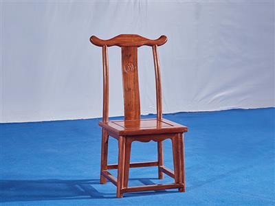 刺猬紫檀小官帽椅